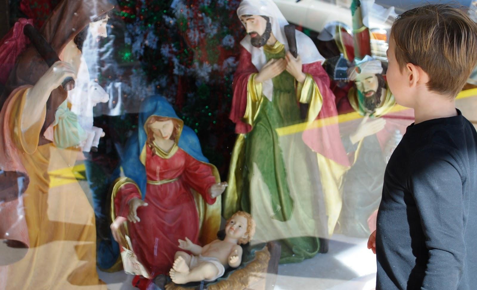 Nativity Display in Window
