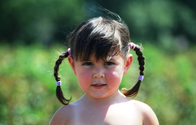 Little Girl with Braids