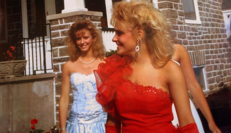 80s or 1980s Prom Dresses and Big Hair