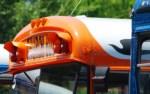 orange church bus