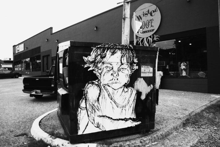 Trash Dumpster Artwork