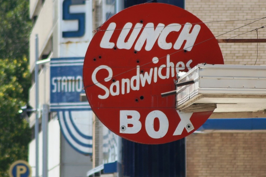 Vintage Lunch Box Sign, OKC
