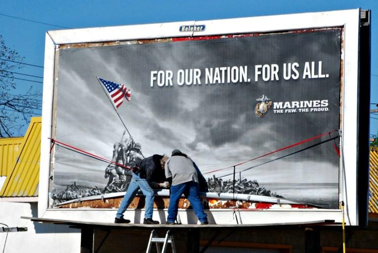 The Few, The Proud, The Marines. Billboard Iwo Jima