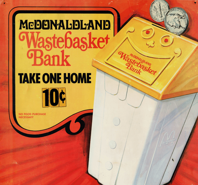 McDonalds Wastebasket Bank