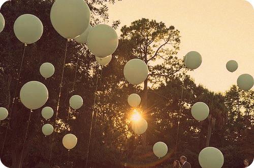 light green balloons