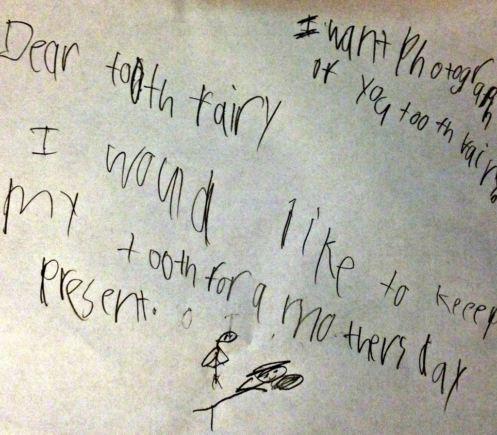 A note to the tooth fairy