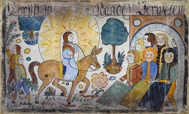 Sweden art Jesus Jerusalem