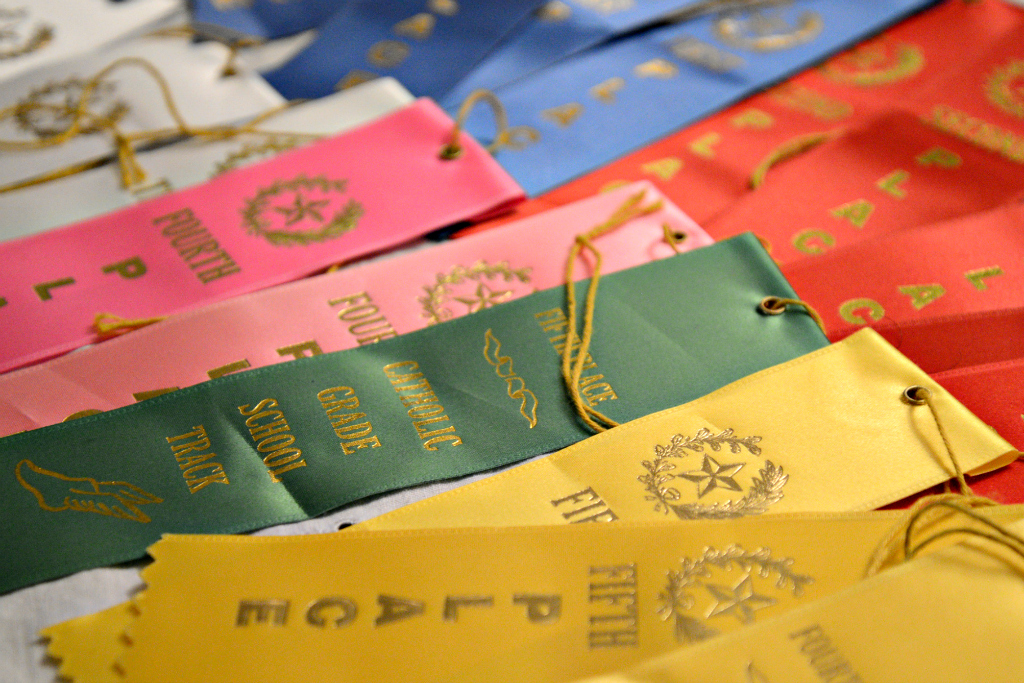 Catholic Track and Field Ribbons