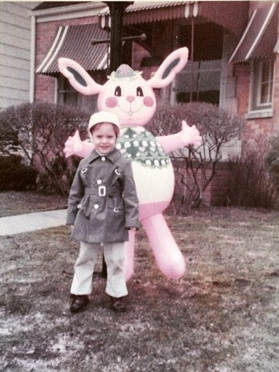 Giant Inflatable Easter Bunny 1970s