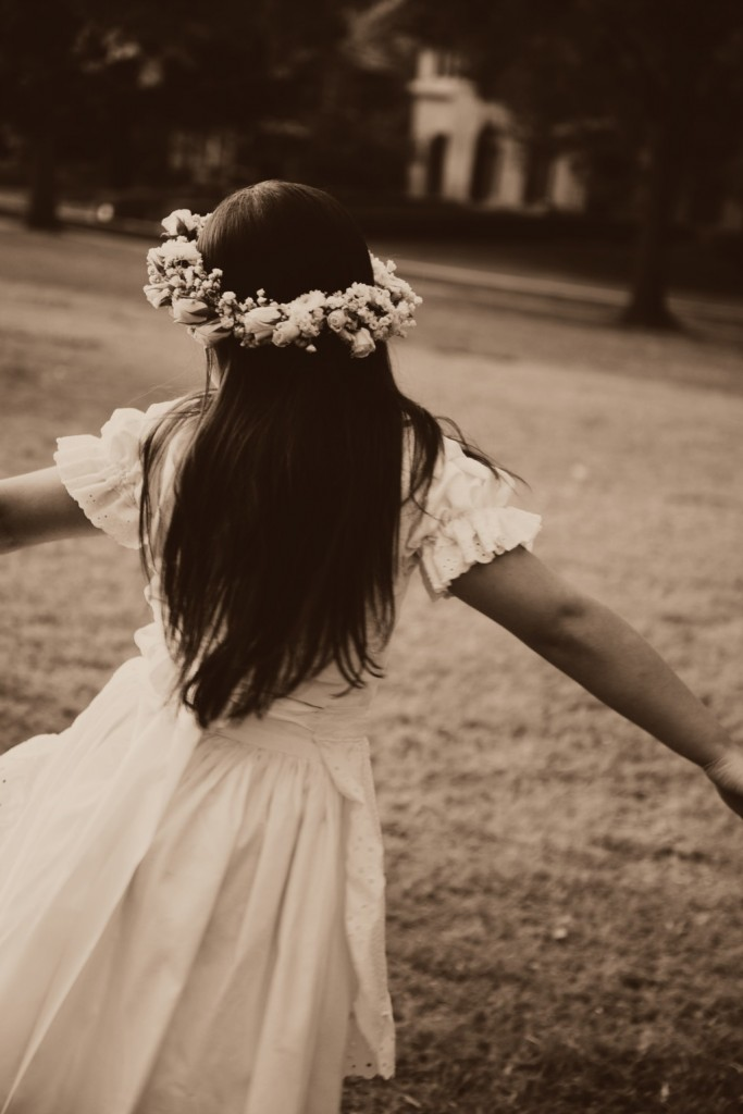 Girl Twirling Around