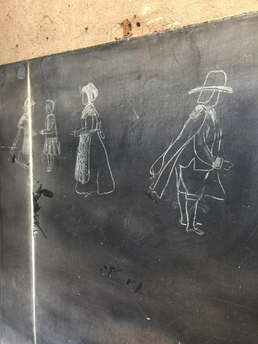 OKCPS Discovered Chalkboard Drawing