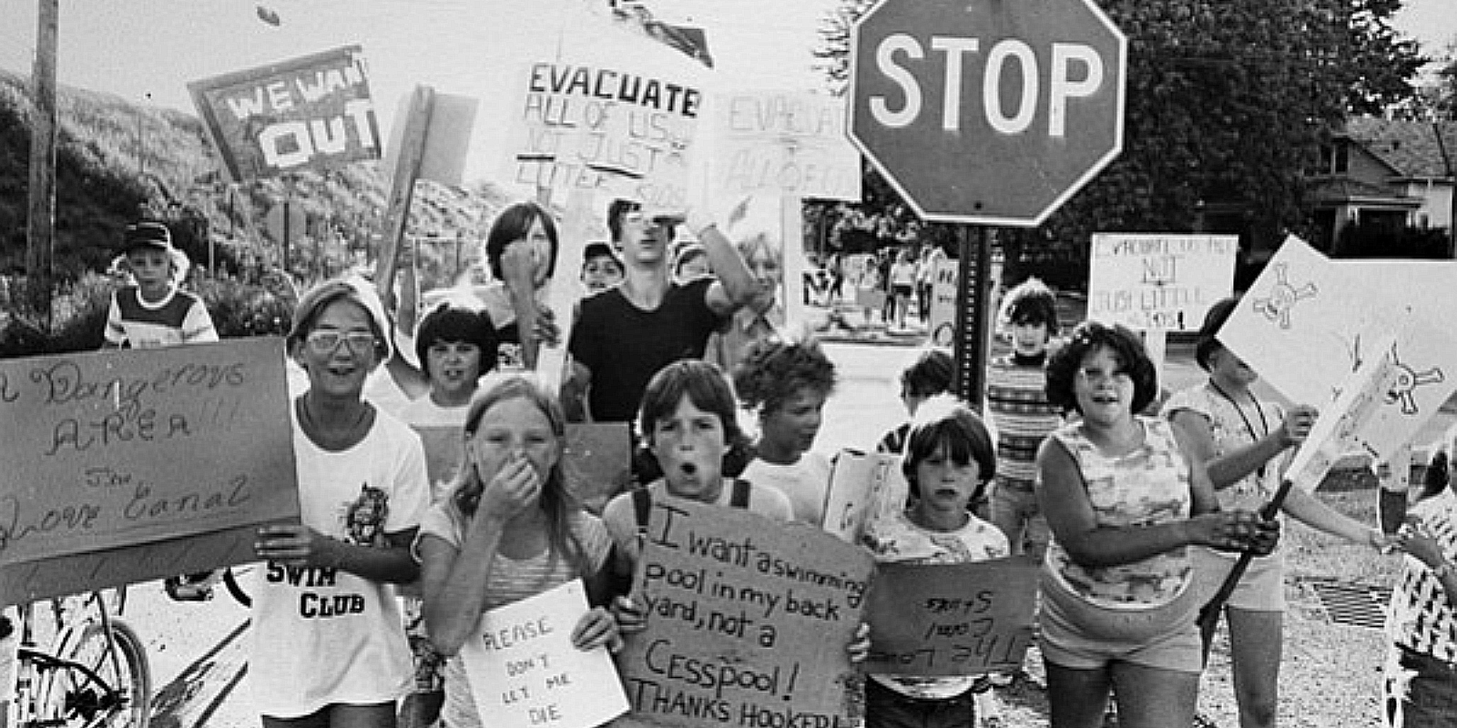 Gen-X Landmarks: Children Protest Love Canal 1978 Generation X Protest
