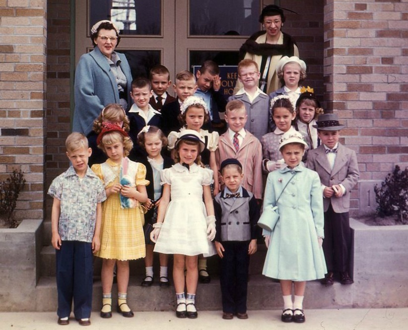 Children Dressed For Church in the 1950s