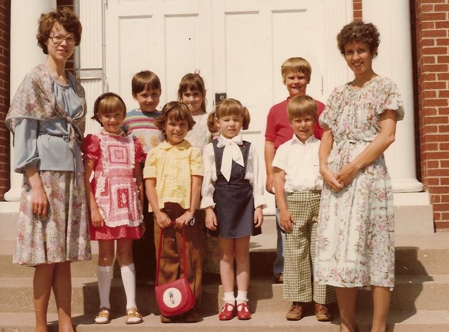 Children Dressed For Church in 1979