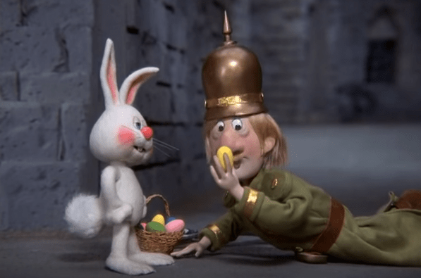 Soldier Rankin Bass easter bunny comin to town
