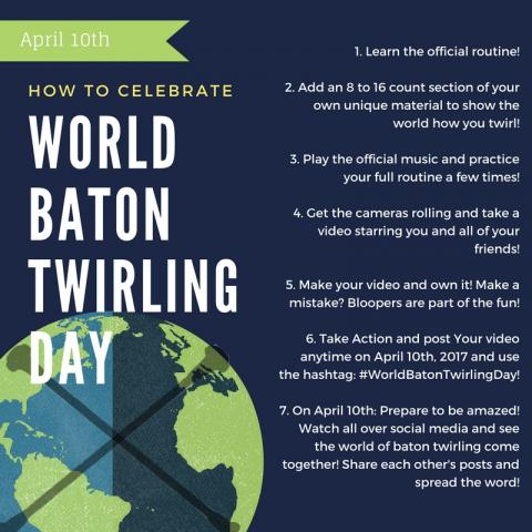 World Baton Twirling Day 2017