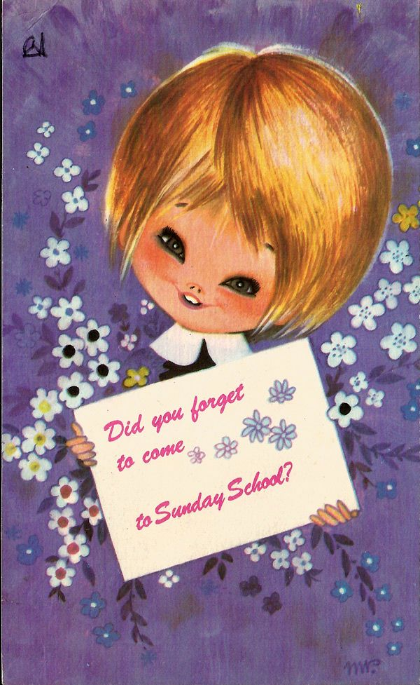 We missed you in Sunday School Card from the 1970s