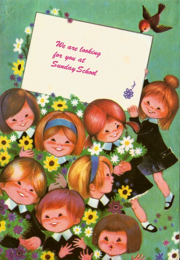 Sunday School Card 1970s