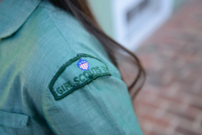 1960s girl scout usa emblem patch