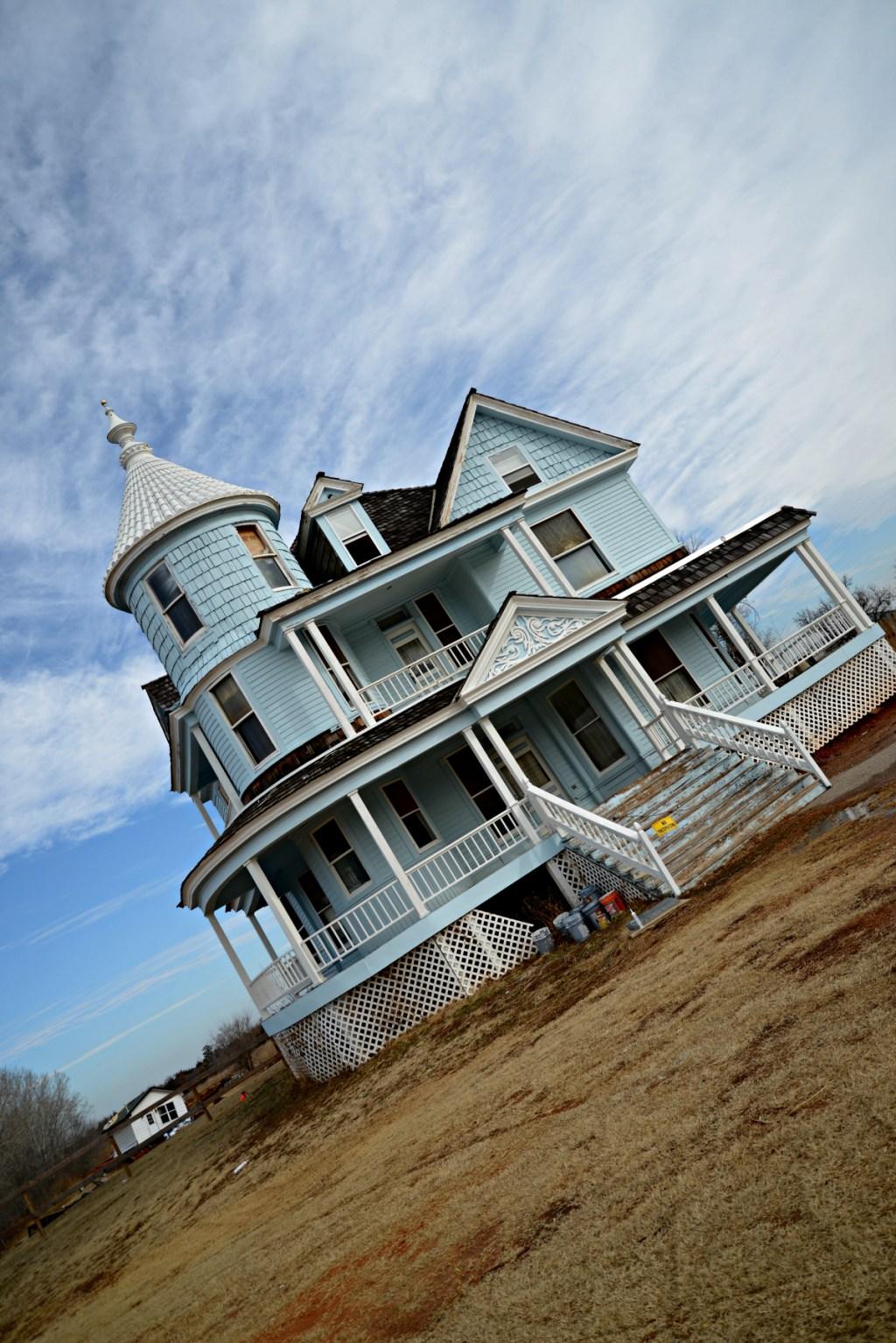 Blue Victorian Mansion Oklahoma