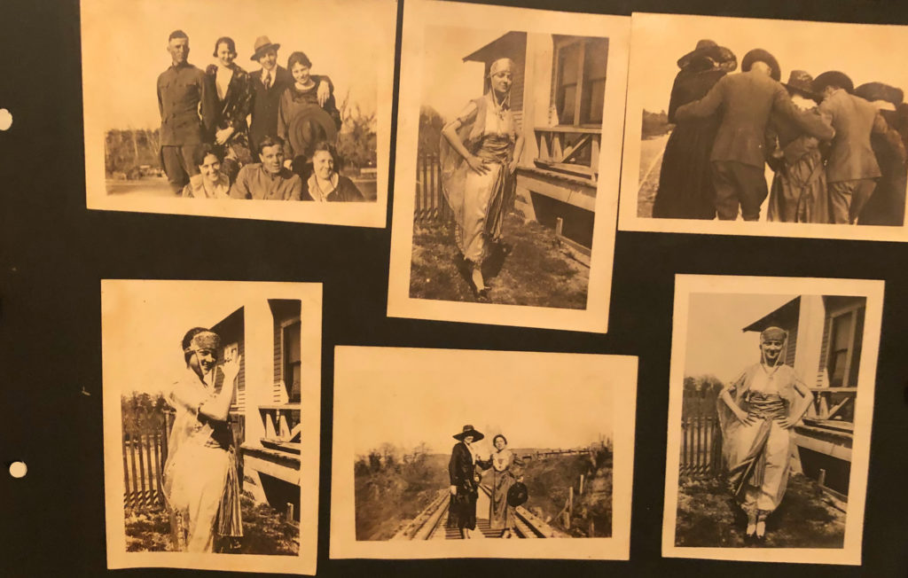 Pictures of friends in a World War 1 photo album, discovered at an Oklahoma City Flea Market.