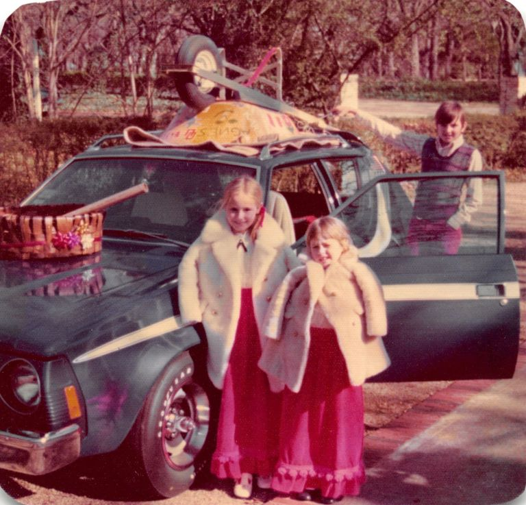 Christmas 1973 | A Gremlin Car and Children dressed for Christmas