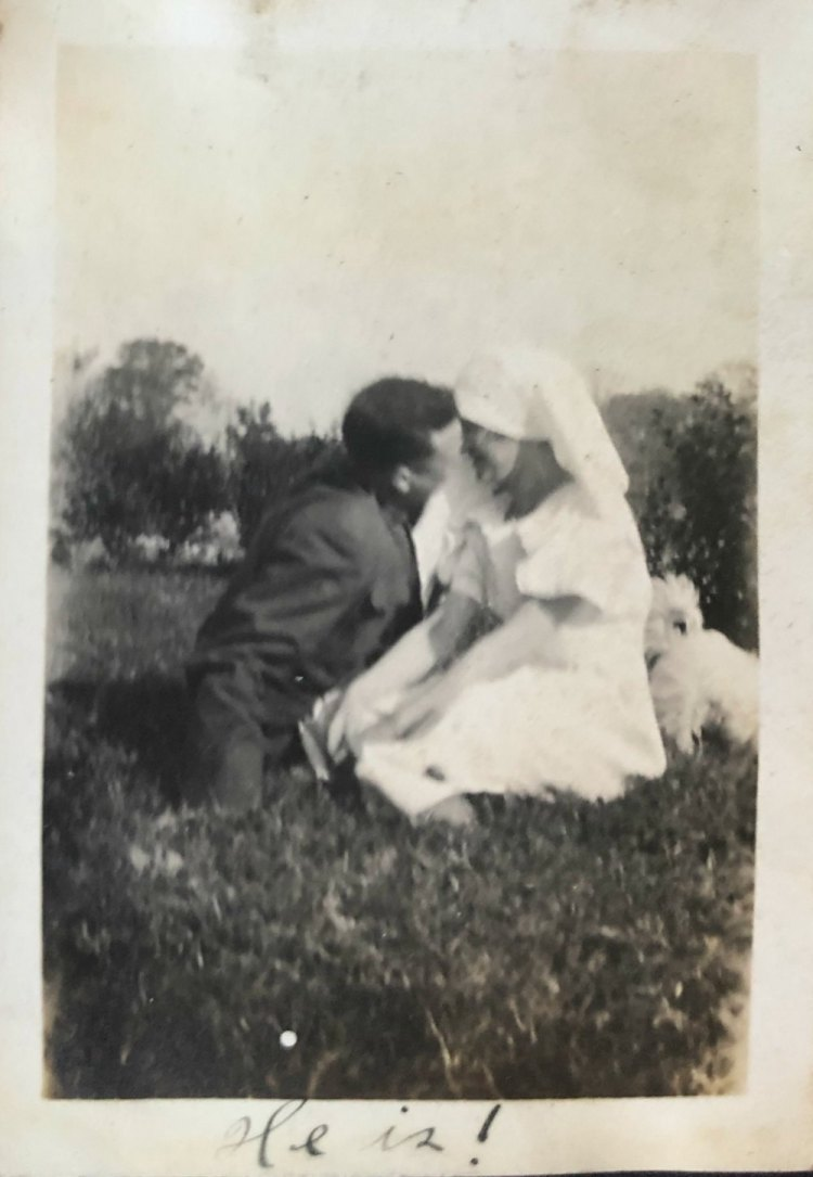 World War 1 officially began July 28, 1914, and officially ended November 11, 1918. The picture of love birds, an Army soldier and Red Cross volunteer, was taken in 1919 in either Oklahoma (near Fort Sill) or in Texas.