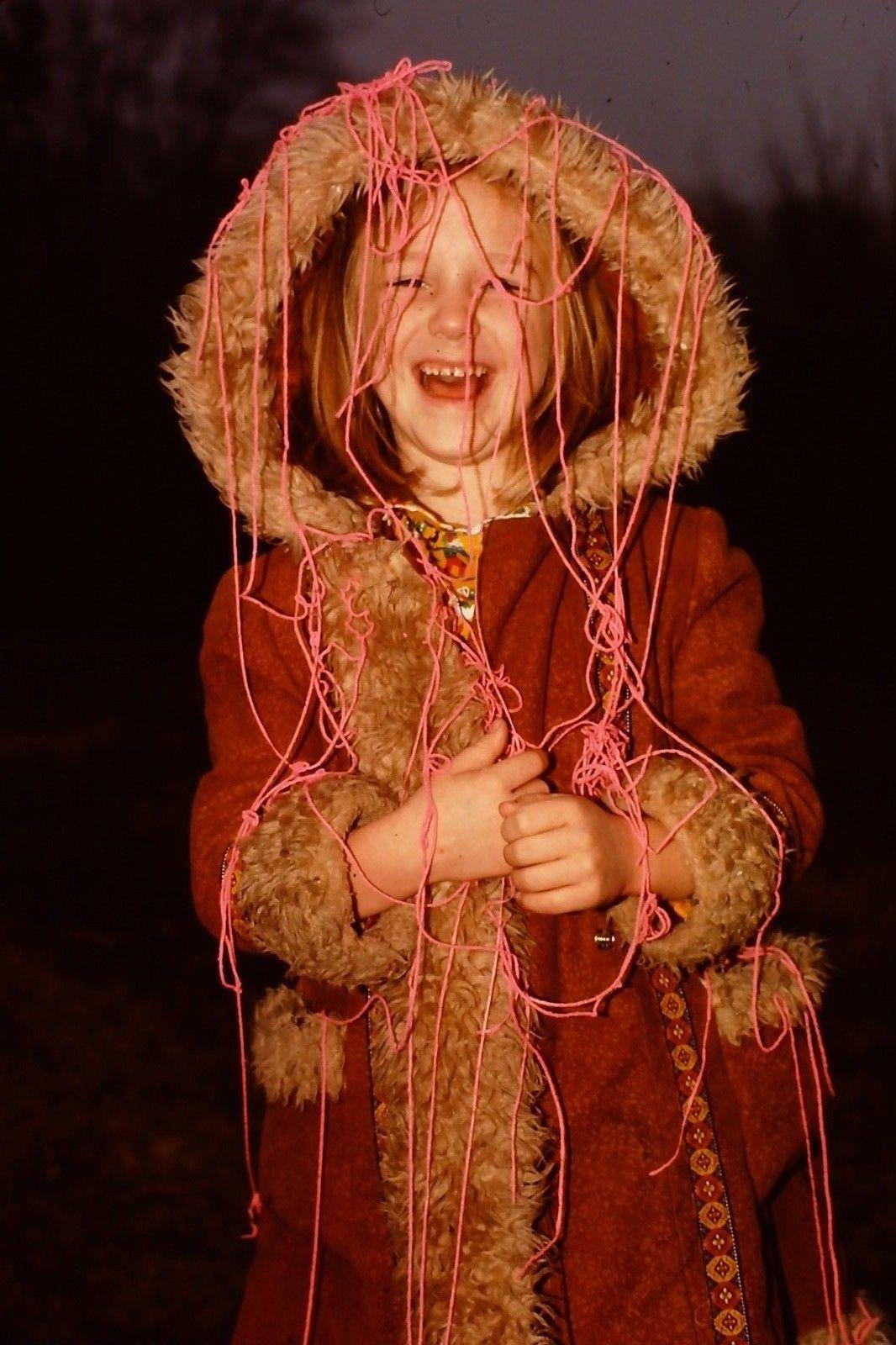 Girl in a winter coat 1970s