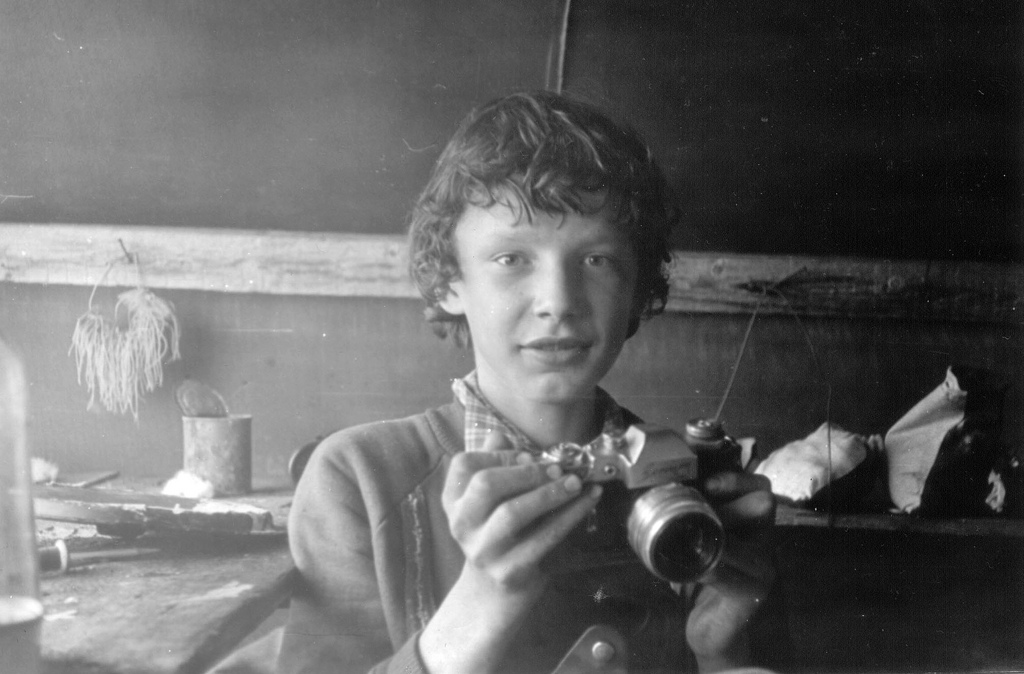 Russian Boy with Camera