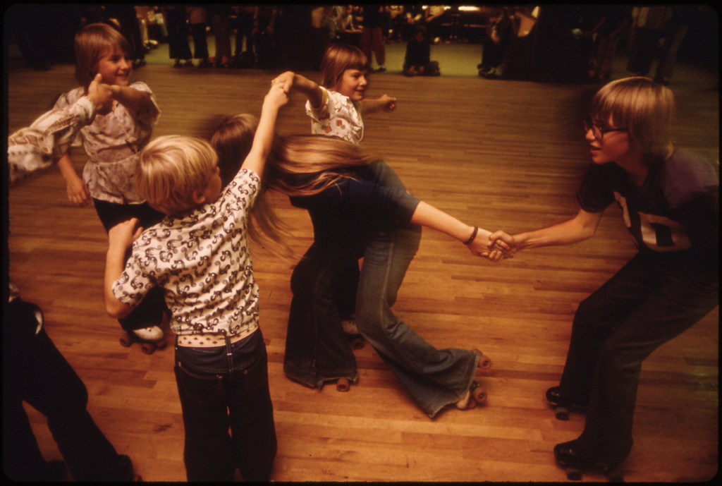 London Bridges at the Roller Rink, 1975
