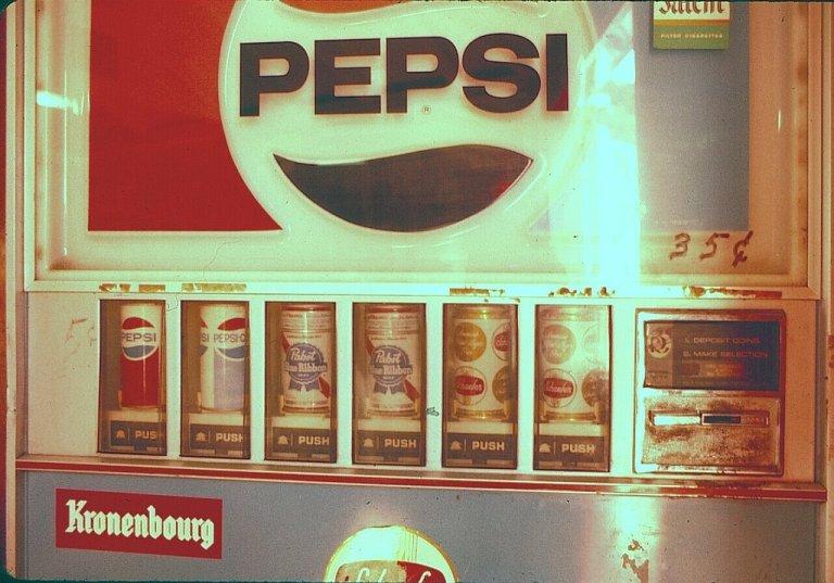 vintage vending machine pepsi beer