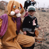 Creepy Brown Easter Bunny