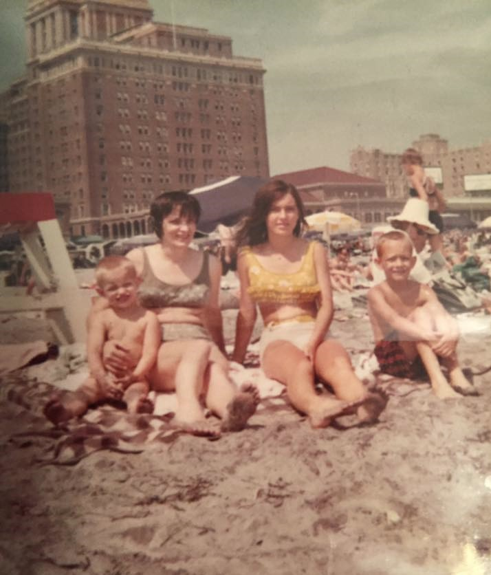Moms with their boys in Atlantic City, Mother's Day, 1967.