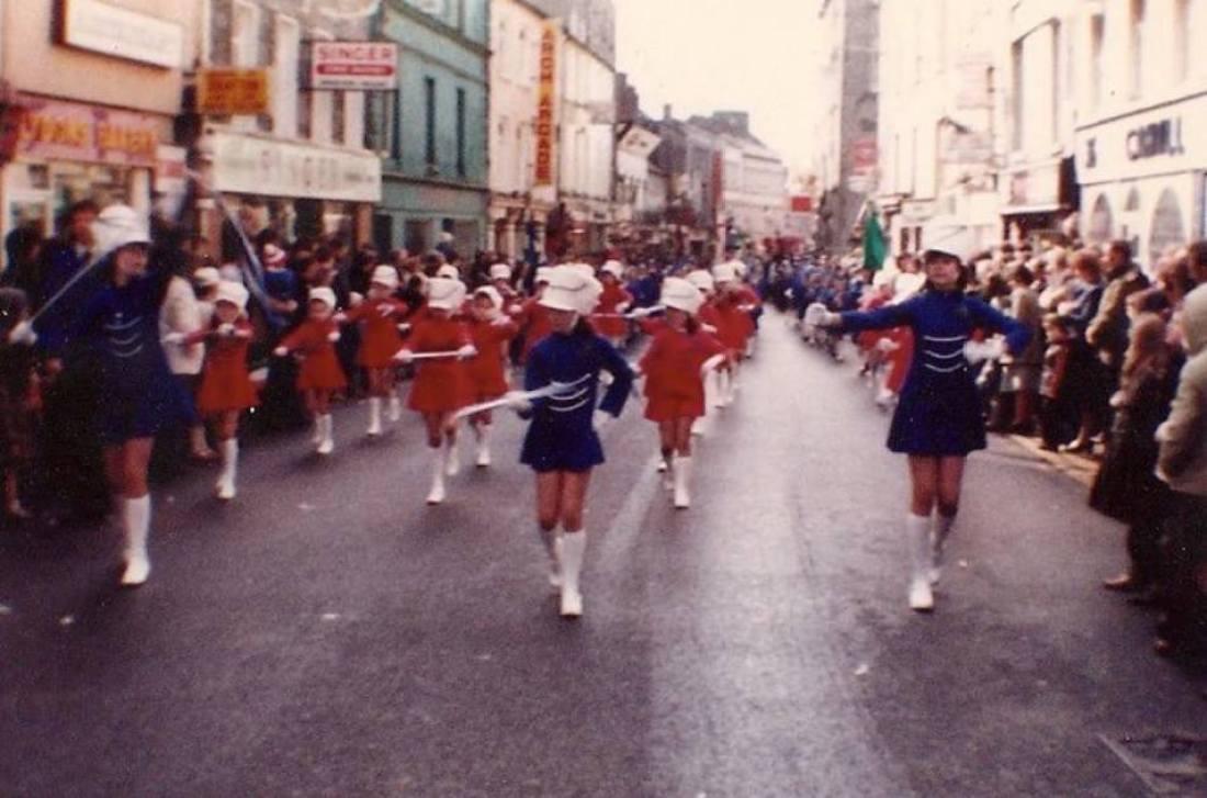 St Patricks Day Parade, William Street, Galway, Ireland, 1980