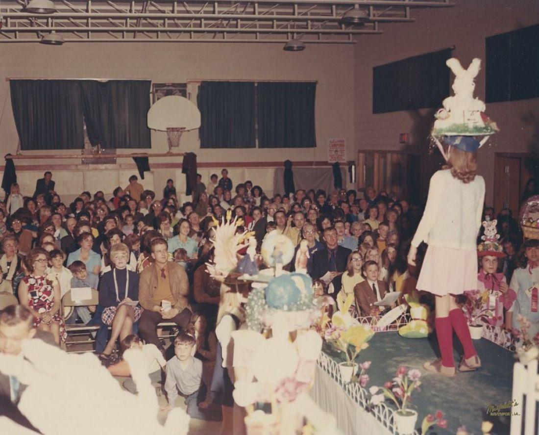 1971 Easter Hat Parade Johnson Elementary Davenport Iowa
