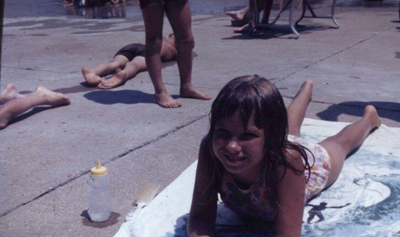 Child Sunbathing 1980s