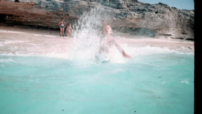 Girl Playing in the Ocean 1976