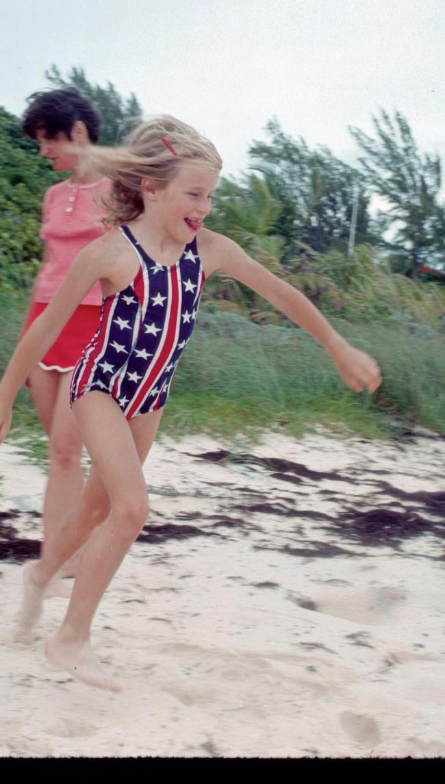 Girl Running on Beach 1976