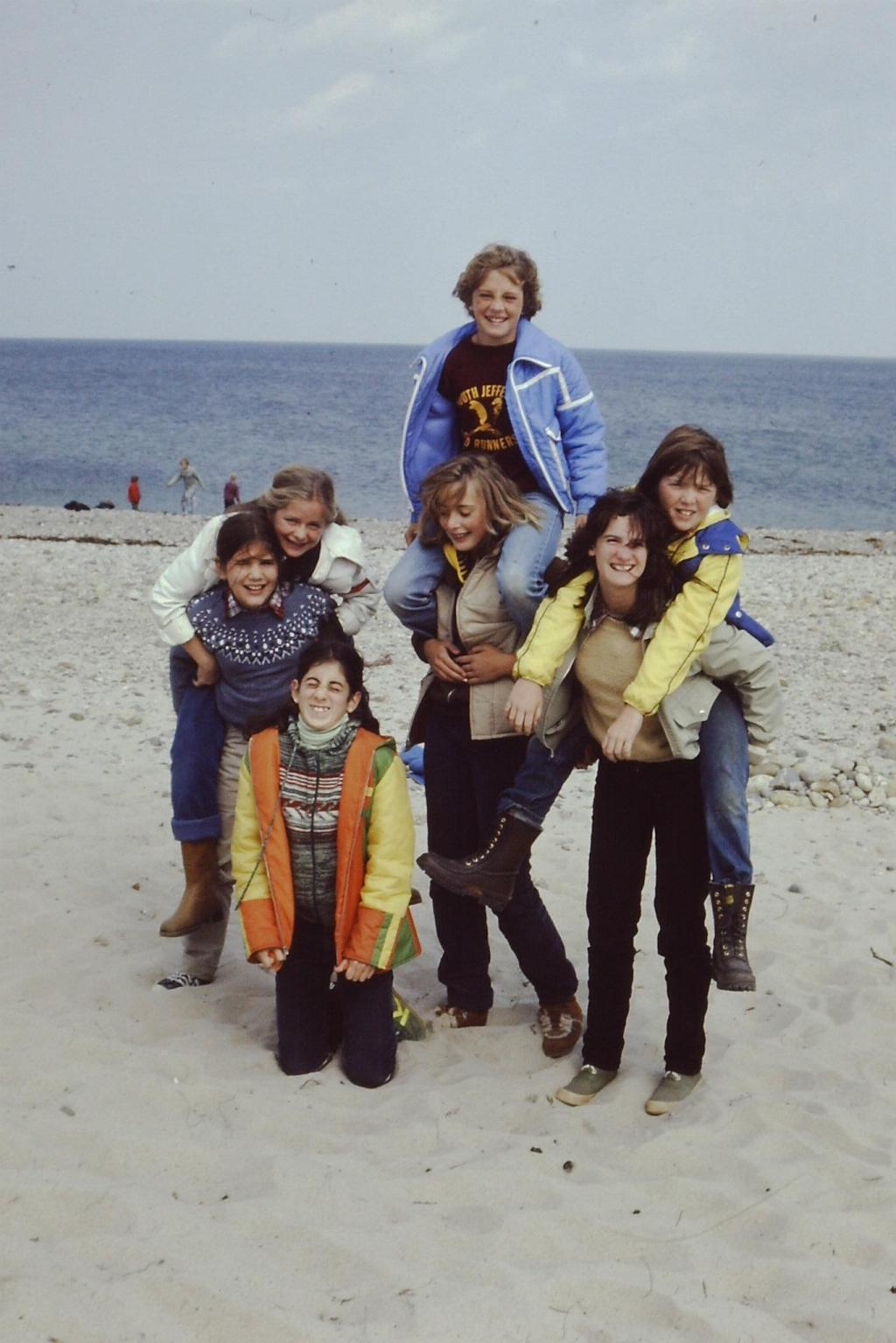 I'm in love with all their boots and winter coats and sweaters. Definitely Massachusetts, early 1980s.