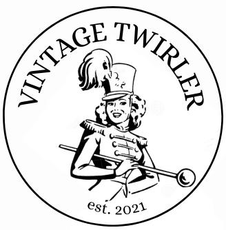 vintage baton twirler