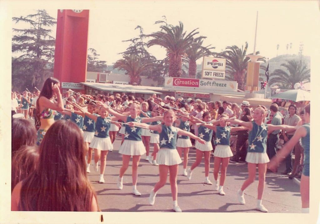 Vintage Disneyland Photo featuring baton twirlers