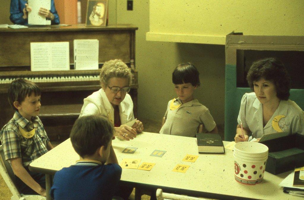 Elderly Woman Teaches Sunday School, 1981