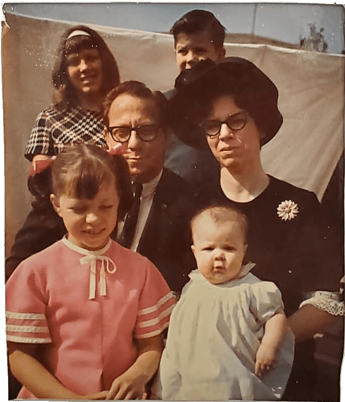 The Elliott Family in 1968. We went to Puddingstone at least twice during my years in So Cal.
