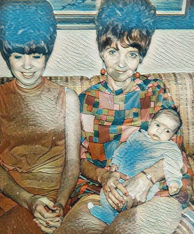 1967: Jeanna, Mom and Grandma
