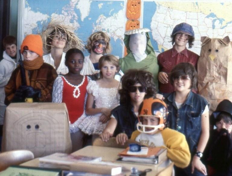 Halloween Classroom Party 1970s
