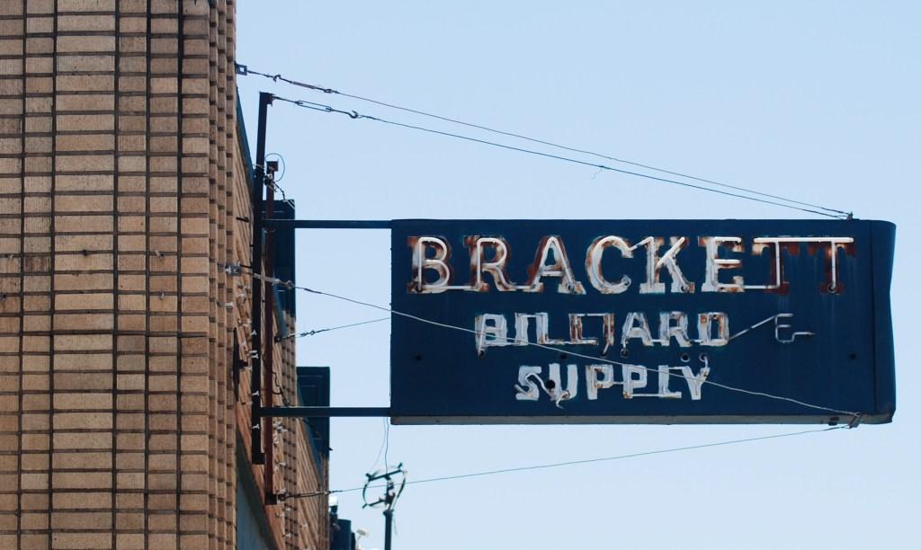 Retro Sign Bracket Billiard Supply