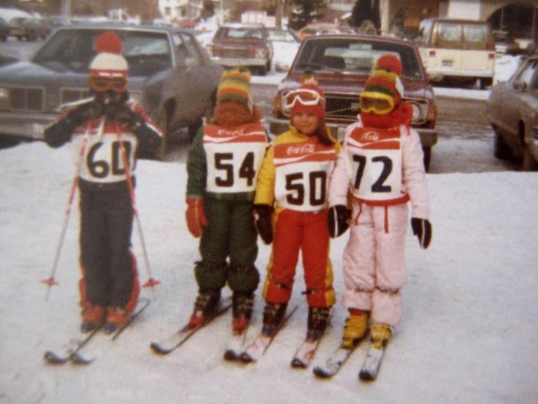 Vintage Skiing Kids 1978