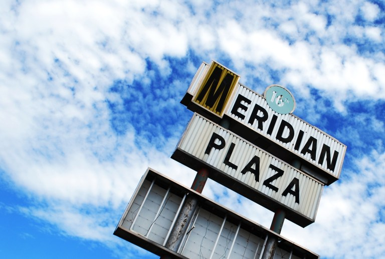 Meridian Plaza Retro Sign