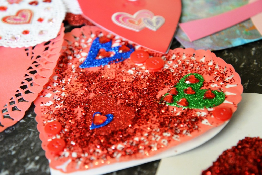 glitter valentines
