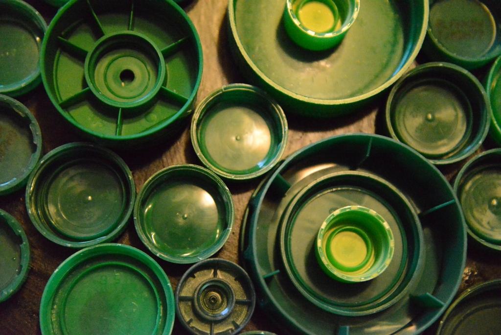 Green Bottle caps